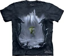 Lost Valley T-Shirt by The Mountain. Dragon Wizard Fantasy Tee Sizes S-5XL NEW