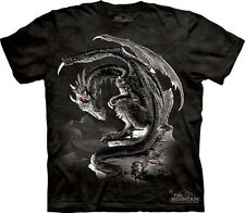 Bravery Misplaced T-Shirt by The Mountain. Dragon & Knight Fantasy Tee S-5XL NEW