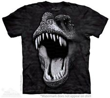 Big Face Glow Rex T-Shirt by The Mountain. Glow in the Dark Dinosaur Tees S-5XL