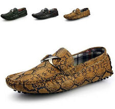 Men Casual Snakeskin grain Driving Moccasins Zapato Loafer Slip on Shoes NX603