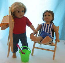 """Doll Camping Beach Folding Chair For 18"""" Doll American Girl Furniture New"""