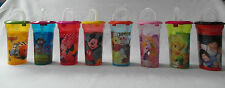 Children's Character Water Canteen with Straw - various designs Disney Marvel 1D