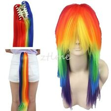 My Little Pony Cosplay Rainbow Dash Multi Color Synthetic Party Wig Tail Set