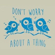 New DON'T WORRY ABOUT A THING Shirt, 3 Little Birds, Blue, Bob Marley, Reggae
