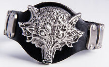 Lederarmband Armband Leder Wolf  for Fans Game of Thrones  Woolf  Wappen Starck