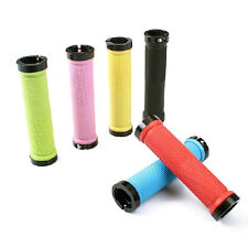 1Pair Cycling Lock-on Round Handle Grips Handlebars For Mountain Bike Bicycle