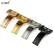 18mm NEW Stainless steel Watch Band strap Buckle Deployment Clasp FOR IWCbands