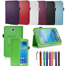 """Leather Smart Case Stand Cover for Samsung Galaxy Tab 3 P3200 P3210 SM-T210 7"""""""