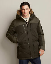 NWT Men's Eddie Bauer North Slope All-Purpose Down Parka Capers Fur Hood