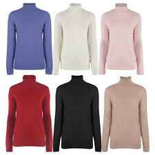 Marks & Spencer Womens Polo Neck Soft Fine Knit Jumper M&S Sweater Pullover Top