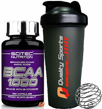 SCITEC NUTRITION BCAA 1000 100 OR 300 CAPSULES BRANCHED-CHAIN AMINOS VITAMIN B