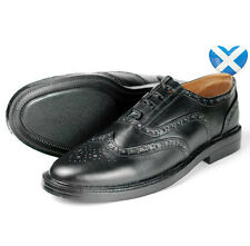 Brand New Scottish Ghillie Brogues Black Leather Shoes,Kilt Wear, Wedding