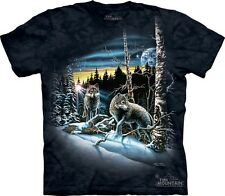 Find 13 Wolves T-Shirt by The Mountain. Hidden Wolf Images Tee Puzzle S-5XL