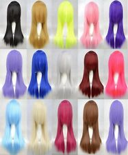 "60CM/24"" Long Straight 14 Colors Party Fashion Sexy Cosplay Wig Full Hair Wig"