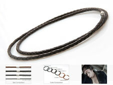 Round Genuine Leather Necklace Choker Cord 3mm 5mm 6mm Unisex - USA Seller