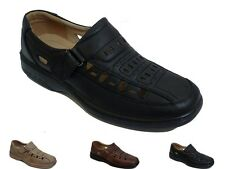 Mens Casual Walk Velcro Black Brown New Summer Strapped Sandals Style shoes size