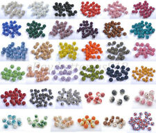 10 & QUALITY CZECH CRYSTAL Rhinestones Pave CLAY ROUND Disco BALL Spacer BEADS