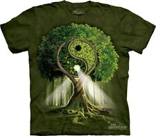 Yin Yang Tree T-Shirt by The Mountain. Retro Hippie Peace Nature Sizes S-5XL NEW