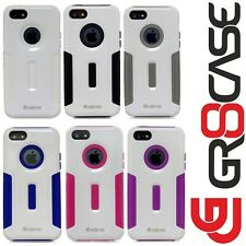 iPhone 5/5S Gr8Case 2Grip Hybrid Silicone/Plastic Protective Cover-Pure White