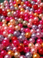 200pc Lot 2mm-8mm Pearl Beads Mix Colors No Holes Confetti & Table Scatters