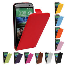1x Genuine leather Flip Case Ultra Slim Cover Open up Skin for HTC One 2 M8 One2