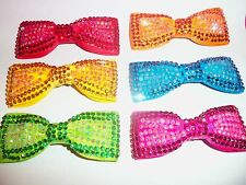 PICK 1 AB RHINESTONE girls HAIR BOW pin up bridal PAGEANT easter 6 color choices