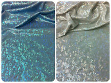 Holographic Foil Specks on Stretch Polyester Spandex Fabric