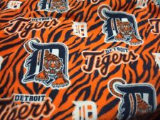 DETROIT TIGERS FLEECE FABRIC  To make blanket BTY Retail 14.99