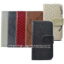 1xNew Snake Skin Wallet Design hard leather case holster for iphone 4 4S