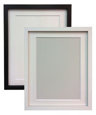 Black or White MDF Photo Pic Picture Frames with Black White or Ivory Mounts RIO