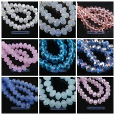 100pcs Glass Crystal Faceted Rondelle Findings Loose Spacer Beads 4mm 44 Colors