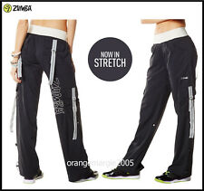 ZUMBA FITNESS Dance! CARGO Cargos PANTS HIP HOP~Converts to Capris w Side Snaps