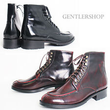 MENS SHOES Designer High top Split Toe Leather Boots HANDMADE 5403, GENTLERSHOP