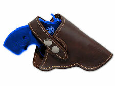 "NEW Barsony Brown Leather OWB Gun Holster for S&W 22 38 357 Snub Nose 2"" Rev"