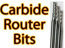 Carbide Router Bits - Choose Your Size(s) - CNC PCB Hobby Model Jewelry -