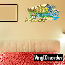 Famous City Mumbai Wall Decal - Vinyl Car Sticker - FamousCityUScolor057EY