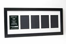 Creative Letter Art- 4x6 Black Picture Frames w/ 4 5 6 7 8 9 10 Opening Collage