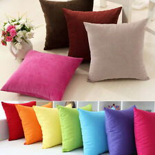 Home Office Candy Colors Design Micro Suede Pillowcase Cushion Cover  Hot  Sale