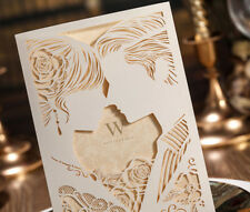 Classic Style Wedding Invitation cards Marriage Greeting Free Enve& Seals WI1015