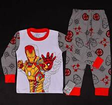 Iron Man Marvel Heros Boys Baby Toddler Pajamas Shirt Sleepwear Kids Costume Set