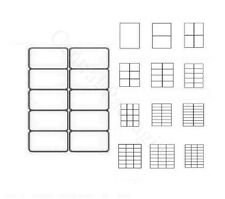 PRINTER LABELS A4 (10 Label Per Sheet)Blank Address Self Adhesive Sticky Posting