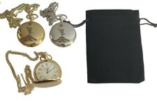 ROYAL SIGNALS JIMMY CREST ENGRAVED POCKET WATCH GOLD OR SILVER with VELVET POUCH