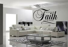 Walk By Faith Not By Sight Huge Wall Decal Jesus Living Room Bible Christian