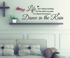 Dance In The Rain Wall Art Stickers, Wall Murals, Wall Quote Decals