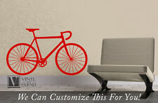 Road race bicycle wall vinyl graphic art a sports wall decor for bikers 2345