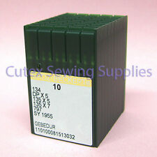 100 Groz-Beckert Gebedur 134 135X5 DPX5 SY1955 Titanum Sewing Machine Needles