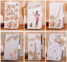 Luxury Diamond Flip Wallet Leather Case Cover For Samsung Galaxy Mega 6.3 I9200