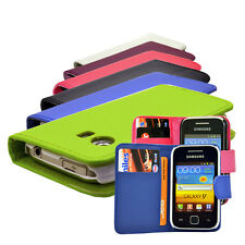 Samsung Galaxy Y S5360 Flip Wallet Leather Case Cover With Free Screen Protector