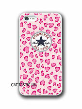 converse all star iphone 4 4s 5 5C case cover apple  vans animal print, pink