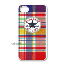 converse all star iphone 4 4s 5 5s 5C case cover apple  vans check multicolour